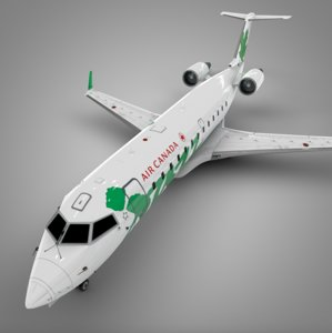 air canada green jazz 3D