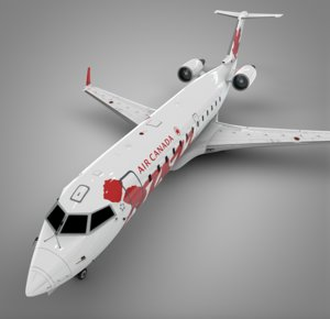 air canada red jazz 3D
