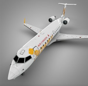 air canada yellow jazz 3D model