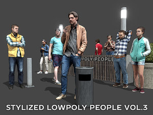 3D stylized people casual pack