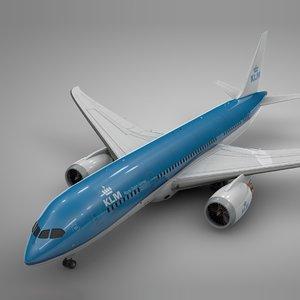 boeing 787 dreamliner klm 3D
