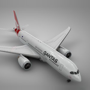 3D boeing 787 dreamliner qantas model