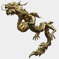 Golden Dragon 3D Animatied