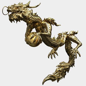 dragon character creature 3D model