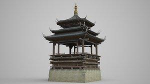 3D ancient palaces pavilions