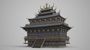 ancient buildings multi-storied model