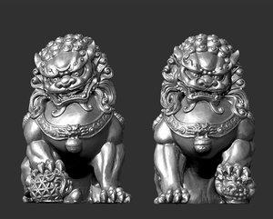 3D model guardian lions