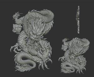 3D dragon angry model