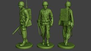 soldier ww2 engineer walk 3D