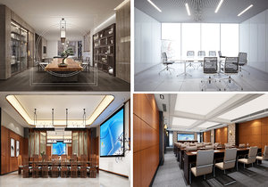 3D model conference space