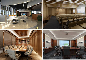 conference space 3D model
