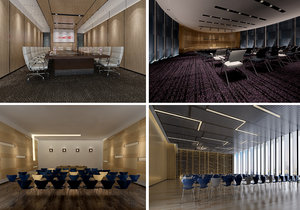 3D conference space model