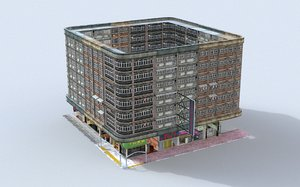3D hong kong building 0003