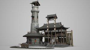 ancient architecture blacksmith model