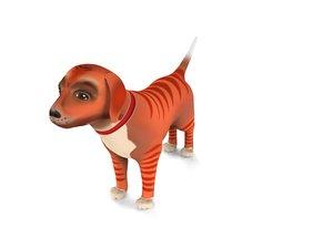 cartoon puppy dog 3D model