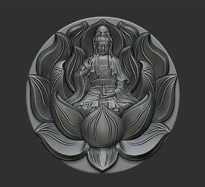 3D kwanyin bodhisattva model