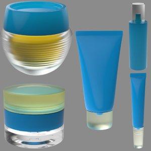 5 packagings 3D model