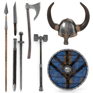3D viking weapon