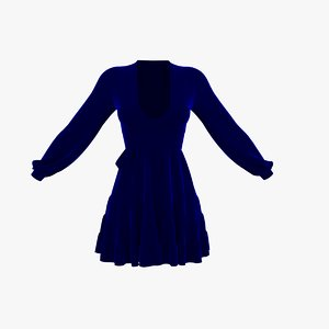 blue summer dress model