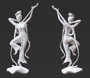 3D dancer tang dynasty