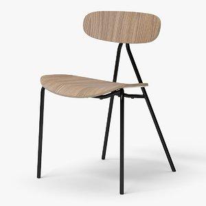 modern stackable chair 3D