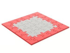3D model repeatable jigsaw puzzle module
