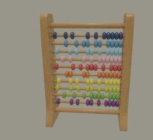 3D rainbow abacus