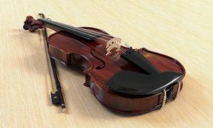 realistic violin 3D model