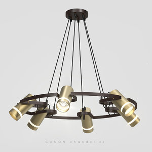 contemporary chandelier conan lamps 3D model