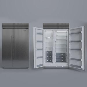3D subzero refrigerator freezer