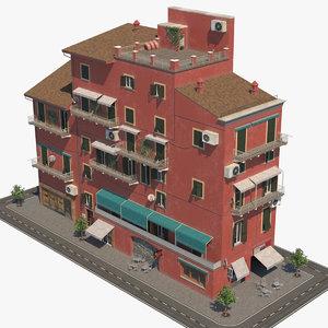 3D model italian building architecture