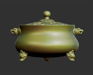3D model chinese classical incense burner