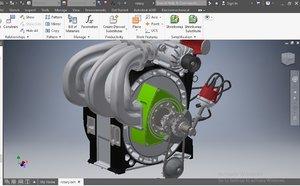 engine rotary wankel model