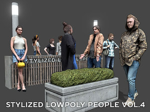 3D stylized people casual pack model