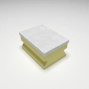 sponge cleaning 3D model