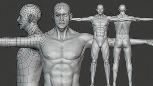 realistic male body basemesh model