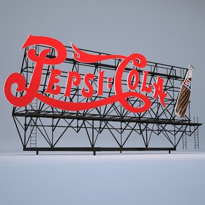 pepsi cola billboard 3D model