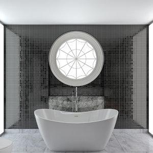 bathroom contemporary design 3D