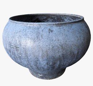 3D model scanned cast iron pot