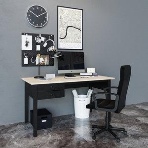 table workplace ikea 3D model