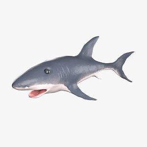 3D toothless shark model
