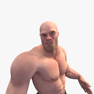 realistic rigged character human 3D model