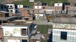 duty mw2 favela 3D model