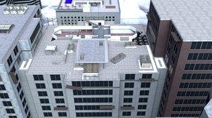 3D modern 2 highrise