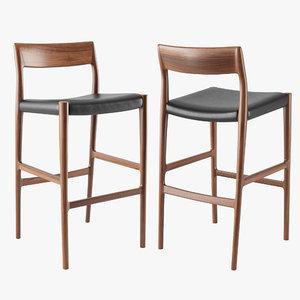 3D moller 77b bar stool