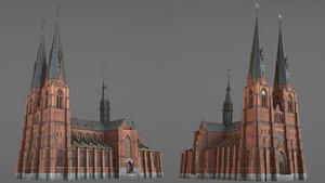 3D arlanda uppsala cathedral model