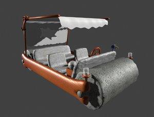 3D car fred flintstone