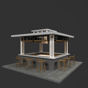 3D booth model