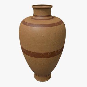 pbr clay pot 3D model
