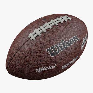 3D football ball american